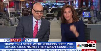 Velshi & Ruhle Call Out Trump On His 'Stock Market Means Less National Debt' Lie