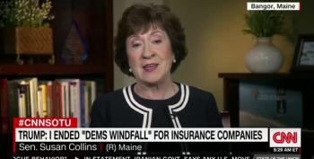 Susan Collins 'Very Disappointed' In Trump For Ending O-Care Subsidies
