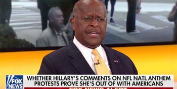 Herman Cain Toadies To Trump's NFL Nonsense