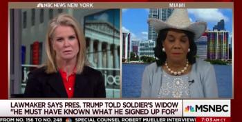 Katy Kay Asks Congresswoman If She 'Politicized' Trump's Call To Widow