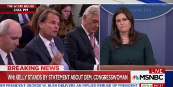 'Inappropriate To Question 4-Star General:' Sarah Sanders Doubles Down On Kelly's Lie