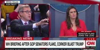 Sarah Huckabee Sanders Insists On False Claim Corker Helped Pass Iran Nuclear Deal
