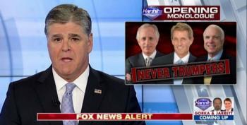 Sean Hannity Goes On A Rampage Attacking Never-Trumpers In The Senate