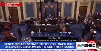 Pence Breaks Tie To Weaken Consumer Protections Over Banks