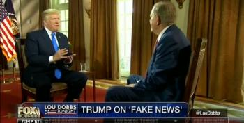 Donald Trump, The Autocrat Rails On 'Fake News' To Lou Dobbs