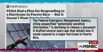 Maddow: FEMA Is Hiding Puerto Rico Disaster Plan, Why?