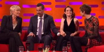 Adam Sandler Inappropriately Touches Claire Foy On Graham Norton Show