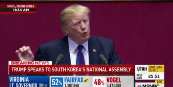 Trump Promotes His Golf Club While Giving Speech To South Korean Assembly
