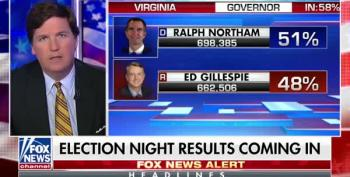 Tucker Carlson Can Barely Spit Out A Report That Northam Won
