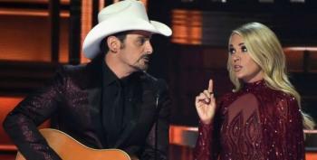 Brad Paisley, Carrie Underwood Make Fun Of Trump At CMAs