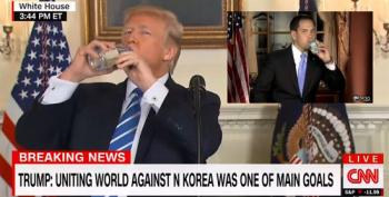 Battling Water Bottles: Trump And Rubio Edition
