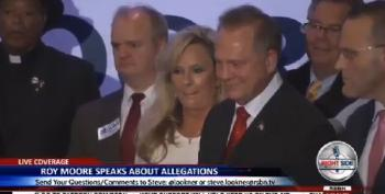 Roy Moore Walks Out On Press Conference