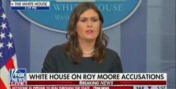 Huckabee Sanders 'Defends' Trump On Sexual Harrassment