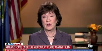 Sen. Susan Collins Still Uncomfortable Over Trump's Sexual Assault Allegations