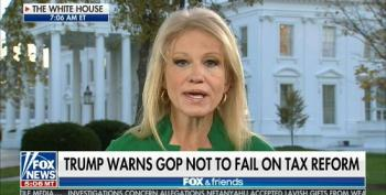 Kellyanne Conway Blabs GOP Secret: We Need Pedophile Moore For Tax Cut Vote