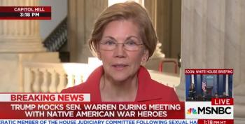Sen. Elizabeth Warren Responds To Trump's Latest 'Pocahontas' Taunt