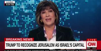 Christiane Amanpour: 'If Israel Is Sole Inheritor Of Jerusalem,' Peace Deal 'Would Be Stillborn'
