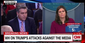 Sarah Sanders Barks At Jim Acosta: News Media 'Purposefully Misleading' Americans