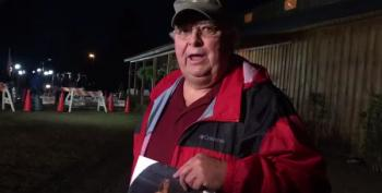 Alabama Dad Protests Outside Moore Rally, Blames Daughter's Suicide On Homophobia