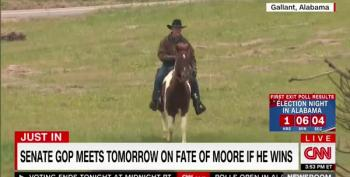 Roy Moore Rides His Horse To Vote In Alabama Special Election