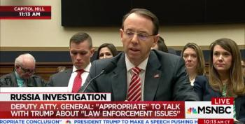 Deputy AG Rosenstein Defends Mueller As Special Counsel