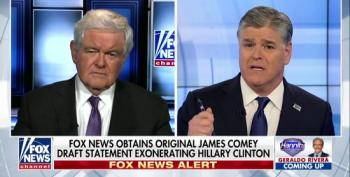 Hannity And Gingrich Push Ridiculous Notion That FBI Agents Will Be Going To Jail For Covering Up For Clinton Over Email Server