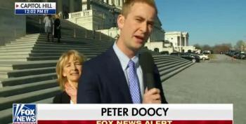 Peter Doocy's Live Report Interrupted By Truth-Telling Protester