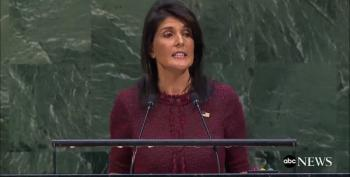Nikki Haley Bullies The World For Trump And Right Wing Evangelicals