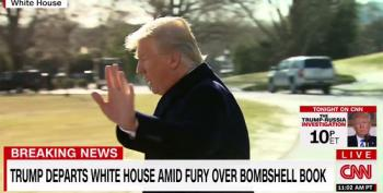 Donald Trump Runs Away From Reporters Before They Ask About Michael Wolff's Book