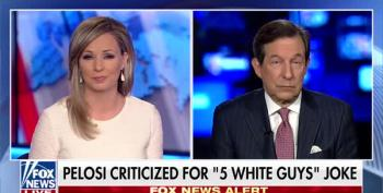 Chris Wallace: Pelosi's '5 White Guys' Comment Is 'Merely A Parking Ticket' Compared To Trump's Shithole