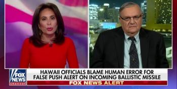 Joe Arpaio Uses Hawaiian Missile False Alarm As Excuse To Push Birther Conspiracy