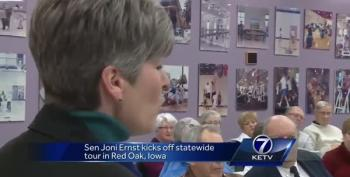Rural Iowans Laugh Out Loud At Joni Ernst Defending Trump
