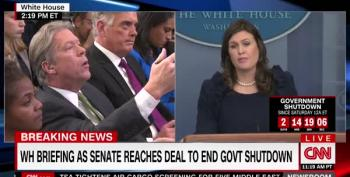Sarah Huckabee Sanders Feigns Ignorance About Whether Trump Approved Ad Calling Dems Murderers