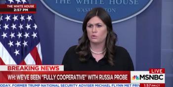 Huckabee Sanders Outraged At Reporter's Suggestion Trump Complicit In School Shootings