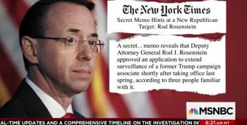 New York Times: The Nunes Memo Goes After Rod Rosenstein