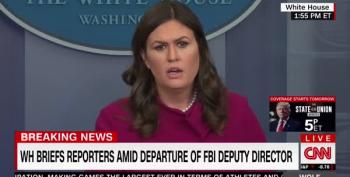Sarah Huckabee Sanders Makes Believe Trump Had Nothing To Do With McCabe Stepping Down