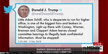 Trump Tweets 'Little Adam Schiff' Because He Has Nothing Else To Do