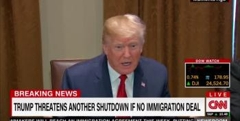 Trump Snarls 'I'd Love To See A Shutdown' Over Immigration Debate