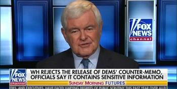 Newt Gingrich Continues To Push Debunked FBI Texts Fake 'Scandal'