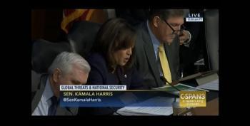 Kamala Harris Asks FBI Director If Trump Should Recuse From Trump-Russia Intel