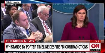 Sarah Sanders Whines That The Incompetent White House Is Doing Their Best