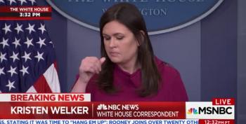 Sarah Huckabee Sanders Claims Trump Is Harder On Russia Than Obama