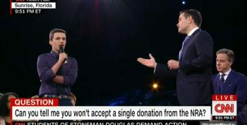 Parkland School Shooting Survivor Challenges Rubio To Reject NRA Money At CNN Town Hall