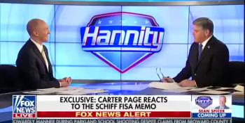 Carter Page Goes On Fox And Licks Hannity's Boots, Yay!