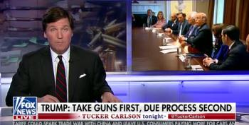 Tucker Carlson Was Not Pleased With Trump's Call To Take Guns First, Due Process Second