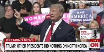 Deranged Trump Calls Chuck Todd 'Sleepy-Eyed Son Of A Bitch' At Pennsylvania Rally