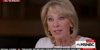 Betsy DeVos Gets A 'D' In 60 Minutes Interview