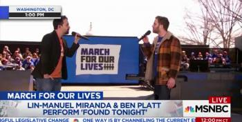 Lin-Manuel Miranda And Ben Platt Perform At March