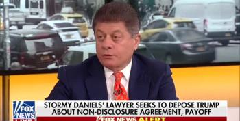 Judge Napolitano Predicts Donald Trump Will Be Deposed By Stormy Daniels' Lawyers