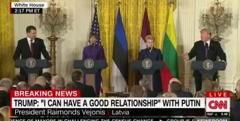 Trump Orders Latvian President To Not Call On 'Fake News'
